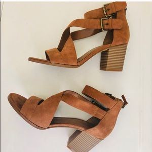 MELROSE AND MARKET RISHA  BLOCK HEEL SANDALS
